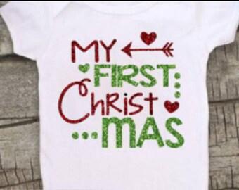 My First Christmas onsies