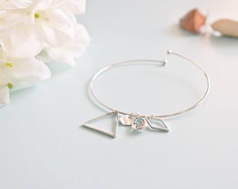 """bracelet size unique """"Louise"""" silver plated"""