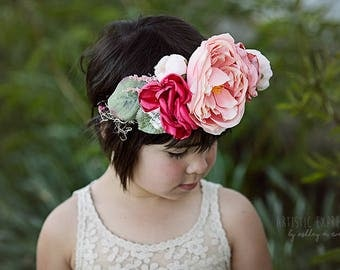 Floral halo, Floral crown, Flower crown, Child halo, Wedding crown, Wedding halo, Maternity halo, Handmade crown, Photography prop