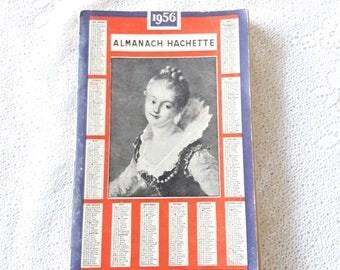 1956 - Antique French Almanach Almanach Hachette