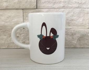 Holiday Bunny Espresso Mug