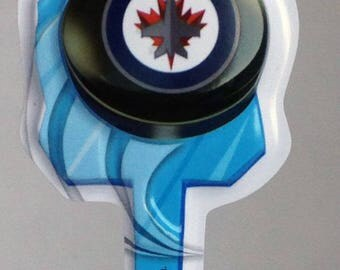 12 Winnipeg Jets Cupcake Picks NHL Hockey Toppers Party Favors