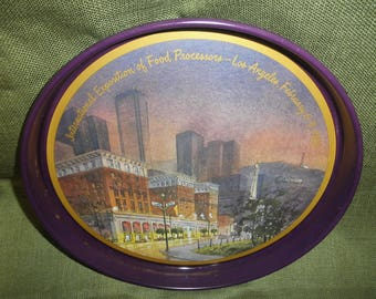 Tin Tray by International Exposition of Food Processors Los Angeles 1983
