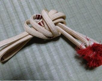 Vintage Kimono Obi-jime, Japanese traditional Kimono Obi cord  Accessory