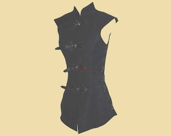 Long Leather Doublet for women, Larp, Medieval