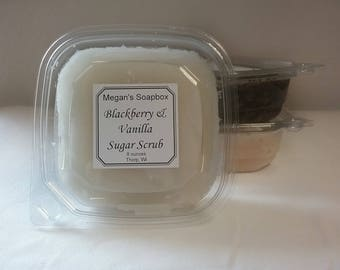 Sugar scrub, Blackberry Vanilla sugar scrub, 8oz sugar scrub, exfoliating sugar scrub, body polish.