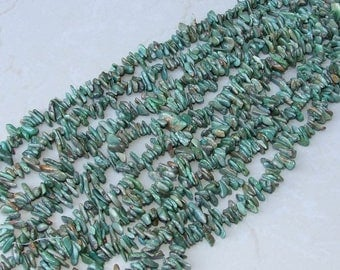 Genuine Natural Turquoise Chips Nuggets. - Turquoise Beads - Real Turquoise - Turquoise Stones - 10mm - 20mm - 16 inch Strand - NT102
