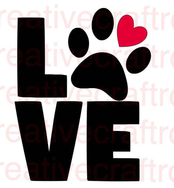 Love Paw Print PNG, Love PNG, Digital Cutting File,JPEG, Cricut Print and Cut file, Love Svg, Print File, Paw Print Png