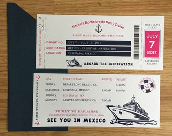 Bachelorette Boarding Pass, Bachelorette Party Cruise, Party Cruise, Cruise, Wedding