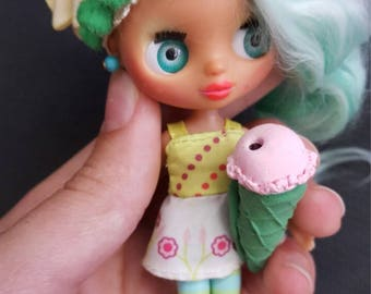 Kate Ooak Petite Blythe lps little pet shop reroot