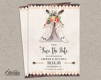 Country western save the dates