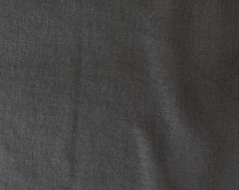 Fabric - 100% Linen - charcoal - medium weight woven linen.