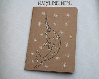 "Sketchbook - Notebook Kraft ""narwhal, sea Unicorn"""