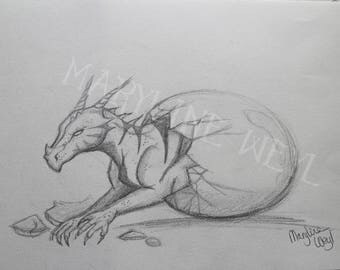 "Original drawing ""baby dragon"""