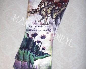 Stegosaurus dinosaur bookmark