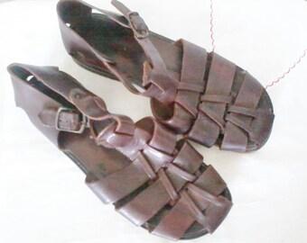 Sandals, Nude Feet, Sandals, Vintage Man Size 42