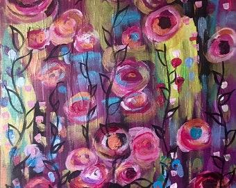 Flowers Acrylic on Canvas