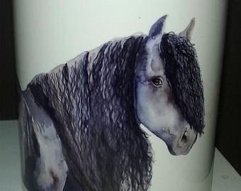 Friesian horse mug