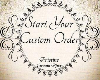 Pristine Custom Rings moissanite Diamond Engagement Rings Zircon sapphires morganite rose gold platinum emerald ruby aquamarine Anniversary