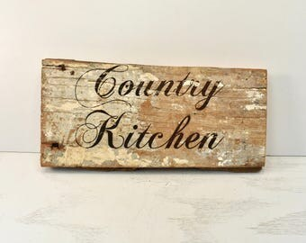 Country Kitchen Barnwood Sign