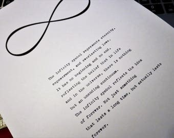 Custom-Order Hand-Typed Typewriter Quote