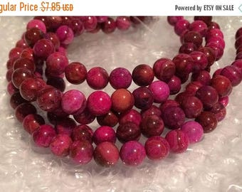 """20% OFF 8mm Round Pink Crazy Lace Agate Beads - 8"""" Strand"""
