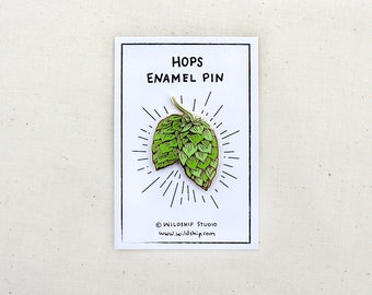 Hops Craft Beer Enamel Pin - Lapel Pin - Badge