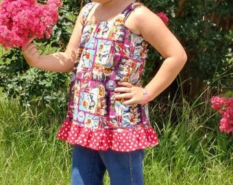 Boutique 4 piece clothing set, custom clothing, girls clothing, custom belt, stacked boutique bow, denim capris, boutique back to school