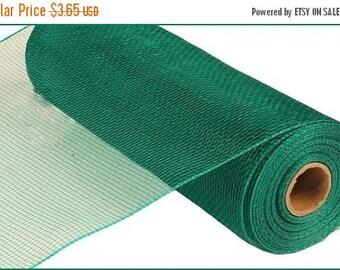 "SALE 10"" emerald green mesh, emerald green deco mesh, emerald green poly deco mesh, mesh, emerald green (10yards)"