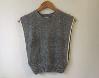 80s Knit Gray Pullover by heidi