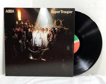 ABBA Super Trouper 1980 Vinyl Record vintage LP 70's Pop Disco EX