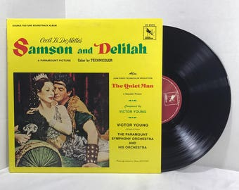 Samson And Delilah - The Quiet Man Soundtrack vinyl record by Victor Young 1978 EX Motion Picture Film Score