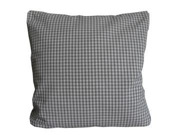 Pillow case, grey-white plaid