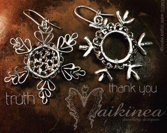 HADO earrings. Snowflake Watercrystal