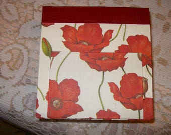 "Refillable notebook in life ""Poppies"" pattern"