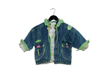1980s vintage women crop denim jacket - vintage clothing