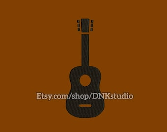 Classical Guitar Embroidery Design - 6 Sizes - INSTANT DOWNLOAD