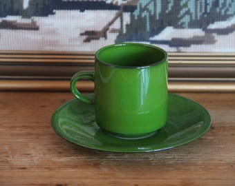 Vintage 1970s Villeroy & and Boch - Agadir - coffee cup and saucer.