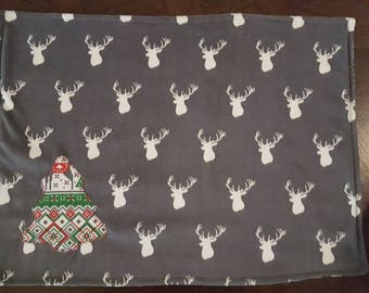 Reversible Christmas placemats