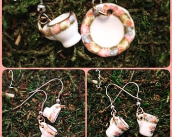 Little teacup earrings