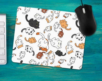 Playful Cats Mouse Pad, Cat Lover Gift, Office Desk Accessories, Custom Personalized Mouse Pad, Office Supplies, Computer Desk Mousepad