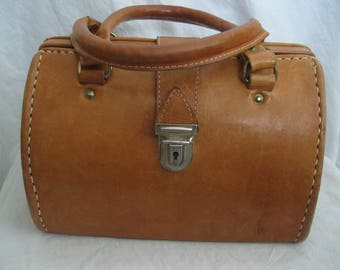 Canoa Brown Leather Doctor Satchel Bag