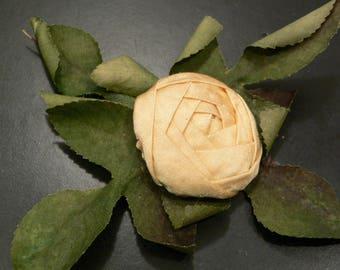 1920's Silk Ribbon Work Flower