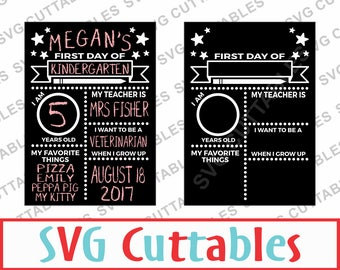 First day of school svg, eps, dxf, Last day of school, Digital Cut File for Cutting Machines