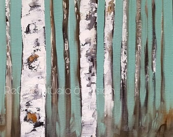"Original Oil Painting ""Vanishing Birch"""