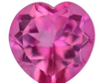 Pink Topaz Loose Gemstone Heart Cut 1A Quality 10mm TGW 3.85 cts.