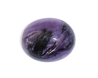 Charoite Oval Cabochon Loose Gemstone 1A Quality 11x9mm TGW 2.60 cts.