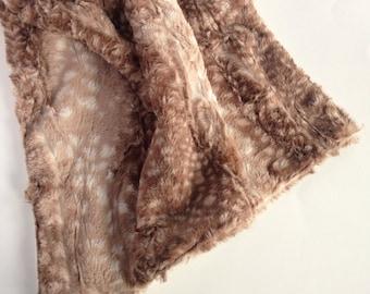 Woodland Blanket - Deer Baby Blanket - Personalized Deer Blanket - Fawn Baby Blanket - Fawn Minky Blanket - Personalized Baby Blanket -