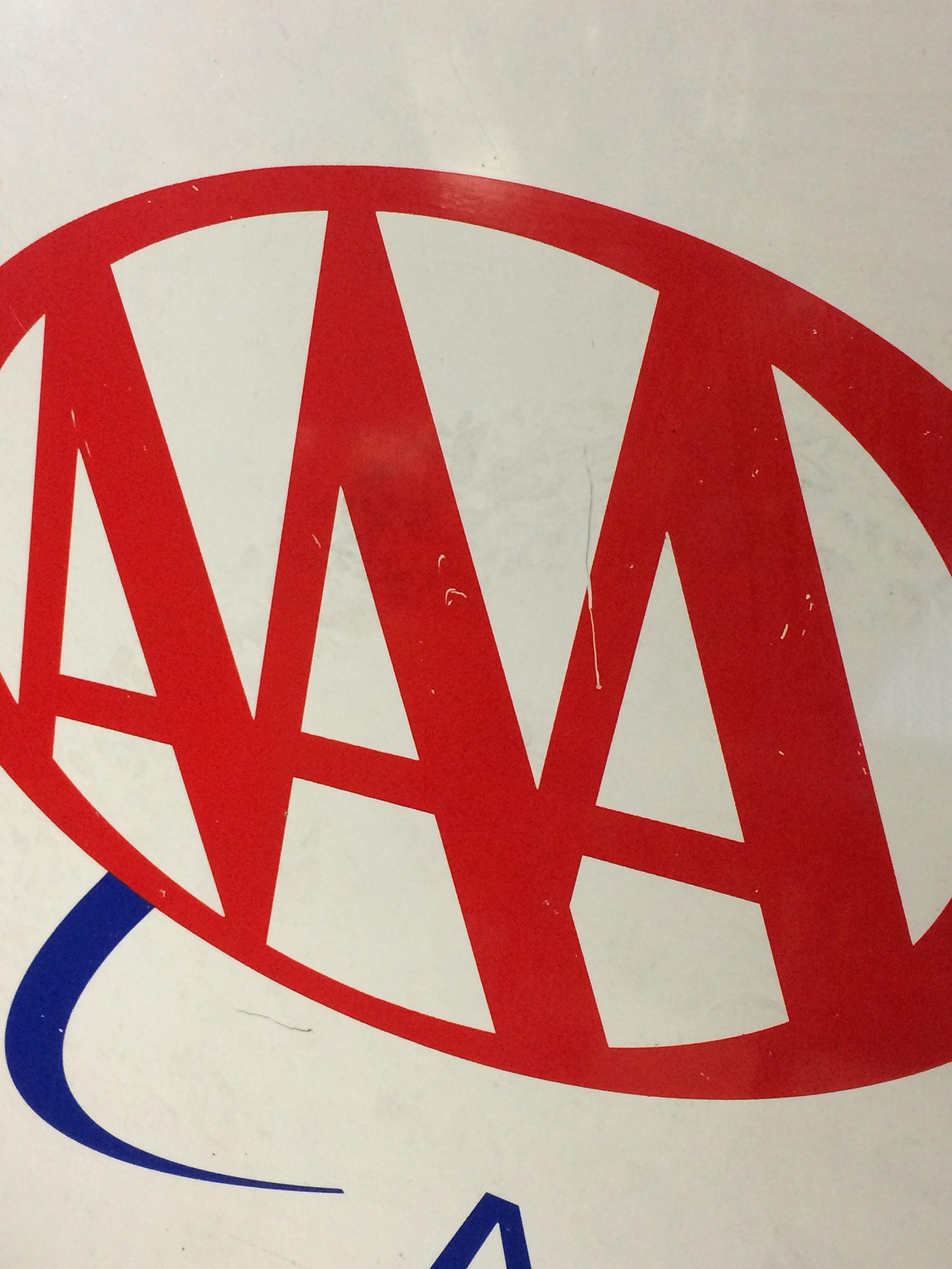 Vintage AAA Approved Auto Repair Sign 2 Sided, Metal Sign ...