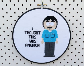 South Park Randy Marsh Cross Stitch Pattern